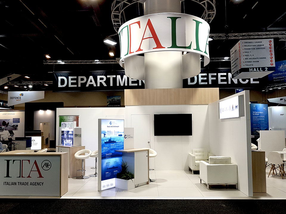 The Italian Trade Agency's booth at Pacific 2019