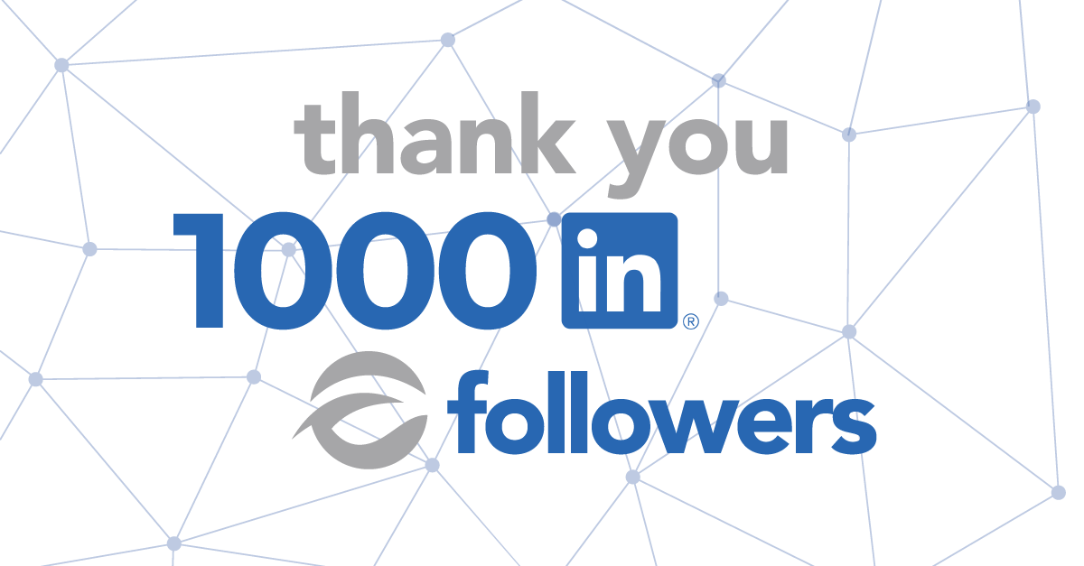 Our LinkedIn page has reached 1000 followers!